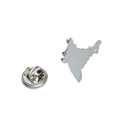 Ashton en Finch Outline Kaart van India Rhodium Plated Lapel Tie Pin