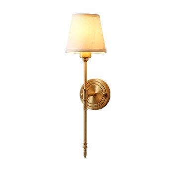 DengWu wandlamp American Idollio landelijk minimalistisch woonkamer balkon hal slaapkamer tweepersoonsbed compleet bronzen lampen alle afzonderlijke wandlampen (15 * 54 cm)