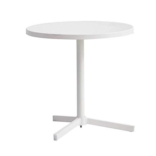 LY88 smeedijzer ronde salontafel woonkamer bank bijzettafel multifunctionele salontafel, 45 * 45 * 45 CM (kleur: wit)