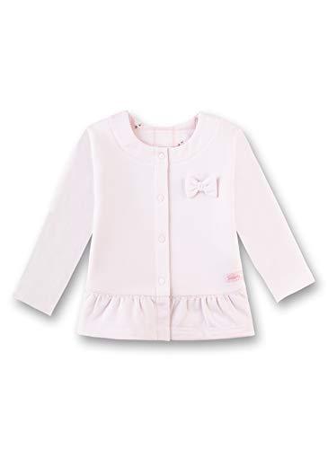 Sanetta Baby-Mädchen Jacket Sweatjacke, Rosa (Hellrosa 3075), 74 (Herstellergröße: 074)