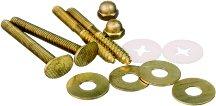 Fluidmaster 7114 Bowl-To-Floor Brass Bolts & Screws Kit, Iron