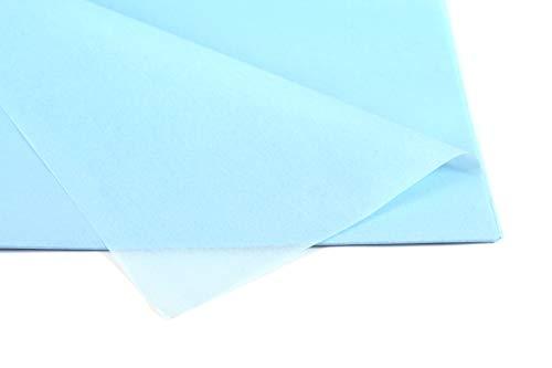Creativery Seidenpapier - Tissue Papier 50 x 75cm 10 Bögen Gestalten Dekorieren Vepacken bunt Farbe hellblau 311