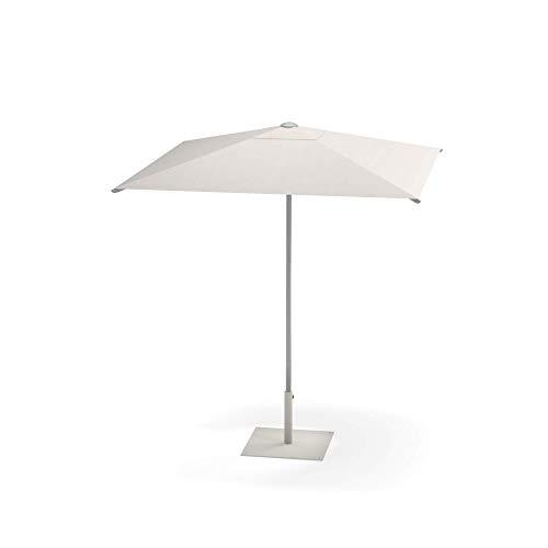 emu Shade Sonnenschirm 200x200cm, weiß Stoff Polyester weiß LxBxH 200x200x240cm Stock Ø3,8cm Gestell Aluminium ohne Schirmständer