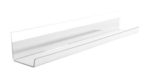 SIGEL GL198 Portalápices, bandeja de acrílico transparente, fijación con adhesivo, 50 cm