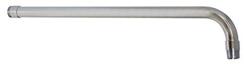 Rugo 45BRF Brazo Redondo para Regadera de Fierro Largo y Chapetón de Acero Inoxidable, 39cmx13mm