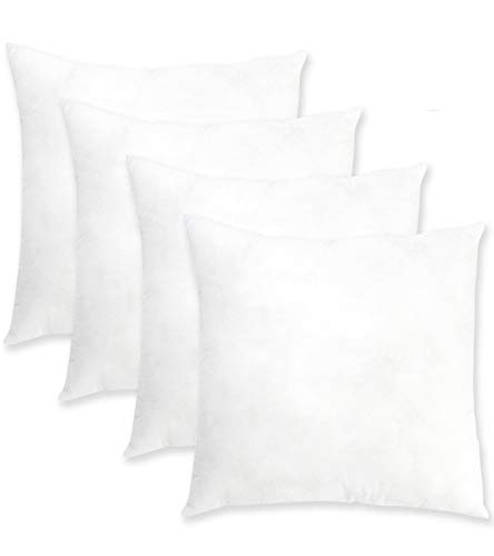 """20""""x20"""" Pillow Inserts Set of 4 ORANIFUL Square Throw Pillows Euro Decorative Cushion Inner Nonwovens Cover 3D Cotton Best Filling for Pillow of Couch/Bed/Indoor/Office 50cm x 50cm"""