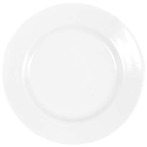 6 Stück Flache Teller im Set aus echtem Porzellan 200 mm Salatteller Dessertteller Frühstücksteller weiß auch zum Bemalen bestens geeignet Tafelgeschirr für Gastronomie und Haushalt