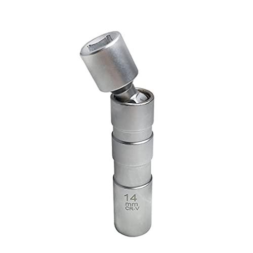 BiaBai Universal 14Mm / 16Mm llave removedora de puntos magnética enchufe de la manga de la bujía reparación del coche herramienta de eliminación de bujías