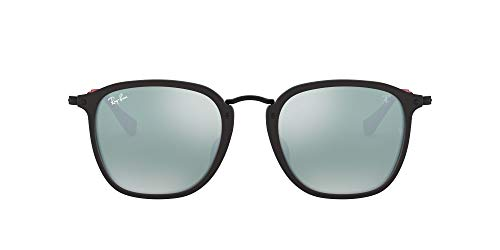 Ray-Ban Acetate Man Sunglass Gafas, Matte Black/Silver Flash, 53 para Hombre