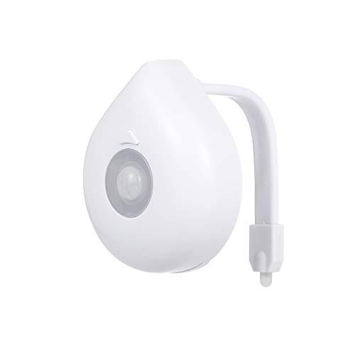 Lixada 8 kleuren door beweging geactiveerd LED-toilet nachtlicht wasruimte lichtgevoelige batterij lamp