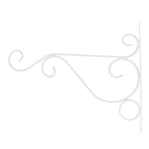 Omabeta Robuster Aufhänger aus Eisen 30 * 21 cm Einfache Installation für Courtyard Brond Neu(White)
