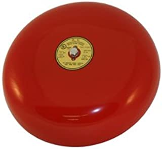 Red Fire Alarm Bell 10 Inch 120 Volt