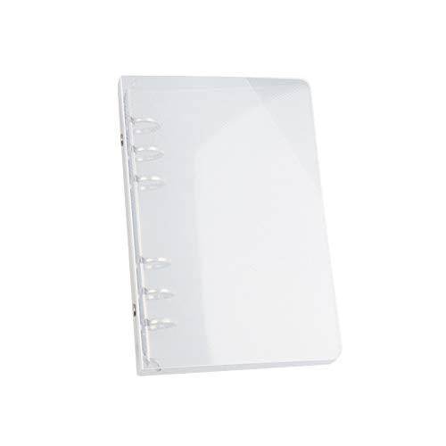 Die Datei Organizer Löschen 6-ring Binder Transparent Oblique-muster-mappe-kunststoff-ordner Ordner Gelocht Für Letter-format A5