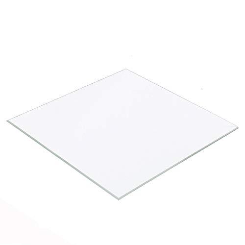 Placa de cristal de borosilicato de 300 mm x 300 mm x 3 mm para impresora 3D CR10/CR10S S3, Prusa y Mendel