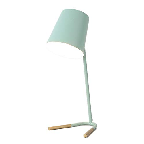 ZLD Nordic Creative Wrought Iron Table lamp Modern Minimalist Table lamp Macaron Color Table lamp Theme Hotel Decoration lamp Modern Living Room Table lamp Bedroom Study Table lamp,Green