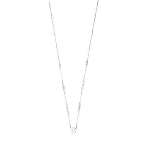 Collar Super Power de Plata con Perlas