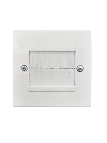 Novaato 2 embellecedores de enchufe empotrados blancos - Elegante conducto de cables y paneles Ocultan los antiestéticos agujeros en la pared