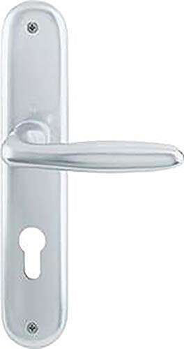 Hoppe Verona Aluminium Langschild Wechsel Garnitur für Wohnungsabschluss-Türen F1 Natur 53/273P/1510 WG Wechsel-Garnitur 8/72 mm
