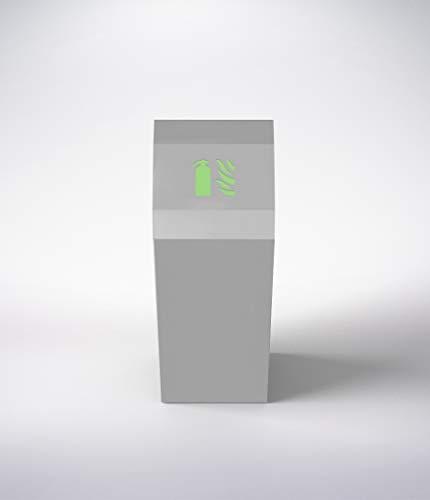 Cassetta porta estintore design Opus, 6 L ad acqua, 6kg a polvere, CO2 2kg, a schiuma