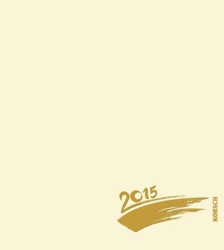 Foto-Malen-Basteln chamois mit Folienprägung 2015: Kalender zum Selbstgestalten