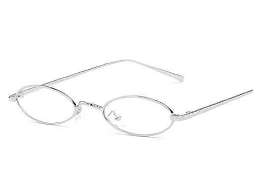 2019 pequeñas gafas de sol ovaladas para los hombres masculinos retro marco de metal amarillo rojo vintage pequeño redondo gafas de sol para las mujeres 2019