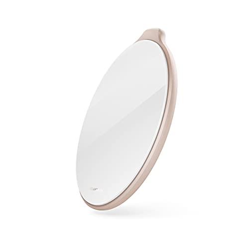 VONMÄHLEN Aura Cargador Inalámbrico de 15W con Certificación Qi - Adaptador de Corriente 4 en 1 de 18W Incluido - Base de Carga Inalámbrica Compatible con iPhone y Otros Smartphones - Cristal Rosa