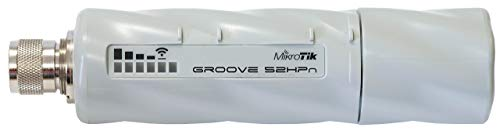 Price comparison product image Mikrotik RouterBOARD Groove-52HPn 600MHz Atheros,  64MB,  1 LAN, built-in 2.4 / 5.8GHz 802.11a / b / g / n,  OSL3,  PoE. (Renewed)