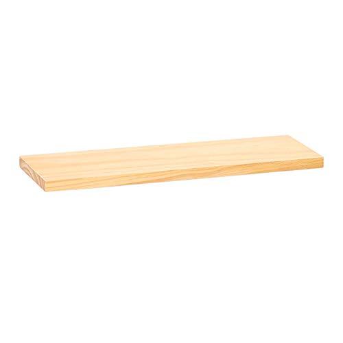 Kamerhaak Muur Bookshelf Board Word Plank Plank van de Muur wandkleden Wandversiering Shelf Slaapkamer Woonkamer Hoom wanddecoraties (Color : Natural, Size : 30X2X15cm)