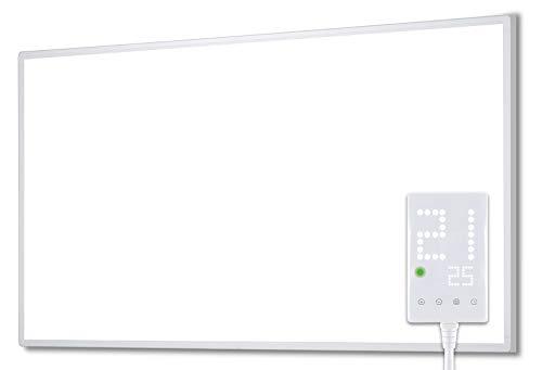Heidenfeld Infrarotheizung HF-HP100 300 Watt Weiß - 10 Jahre Garantie - inkl. Thermostat - Deutsche Qualitätsmarke - TÜV GS - Für 5-12 m² Räume (HF-HP100 500 Watt)