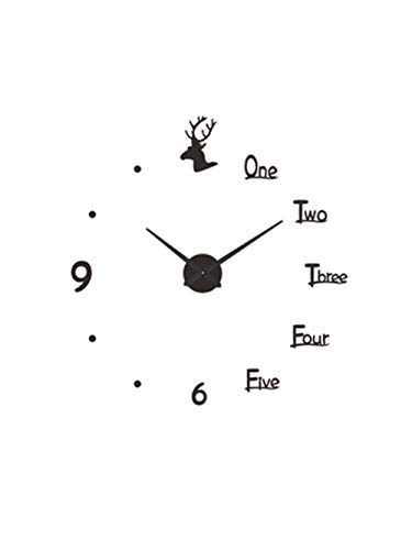 XSZ Modern Design Large Silent DIY Creative Wall Clock Battery Operated for Kitchen Office Living Room Bedroom Decorative (25 Inches)