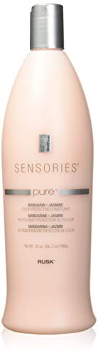 RUSK Sensories Pure Mandarin and Jasmine Vibrant Color Conditioner, 33.8 Oz, A Gentle Color-Protecting Conditioner, Keeps Color and Highlights Bold, Rich, and Vibrant