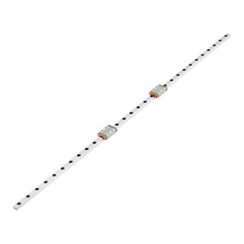 NO LOGO 1set LML9B 600mm Linearführungsschiene guia linear Linear Schlitten CNC-Fräser mit 2 Stück Sliding Block Kugelgewindekugelumlaufspindel