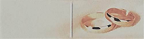 Cartotecnica Italiana 100 tarjetas de recuerdo de boda de cartón marfil con...