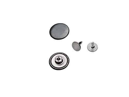 Ista Tools Jeansknöpfe, ohne Loch Rostfrei Metallknopf, 14mm, 17mm, 20mm, Metall Knöpfe (10, 20mm Schwarz Nickel-frei)