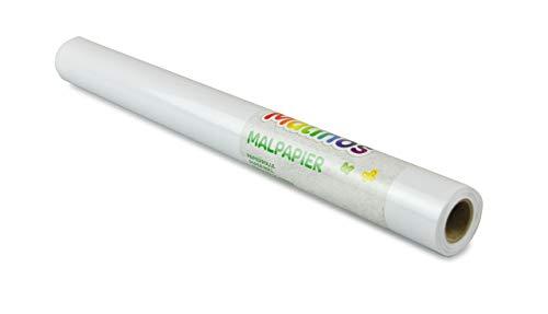 MALINOS 301033 10m Papierrolle, 45cm x 10 Meter zum Bemalen, Weiß