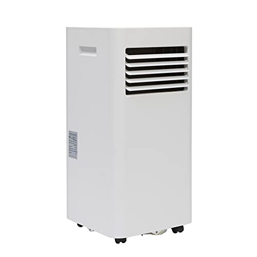 Burfam Air conditioner, Portable 9000 BTU Cooling, Mobile, Powerful Enough for Whole House or Office with Dehumidifier Function, Reliable Aircon to Keep You Cool