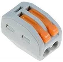 Abrazadera de palanca 2 conectores de 2 v/ías, paquetes de 1 a 100 unidades Wago 222 412