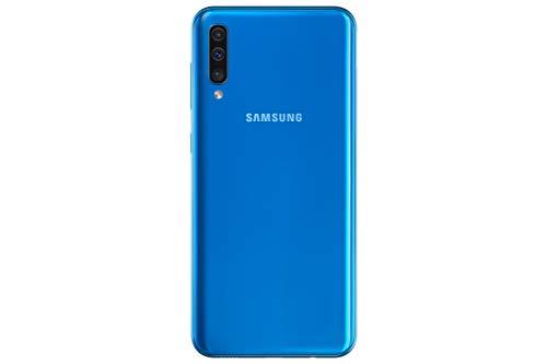 Samsung Galaxy A50 Smartphone Bundle (16.3cm (6.4 Zoll) 128GB interner Speicher, 4GB RAM, Dual sim, Android, Blau) + 64 GB SD-Karte | Deutsche Version
