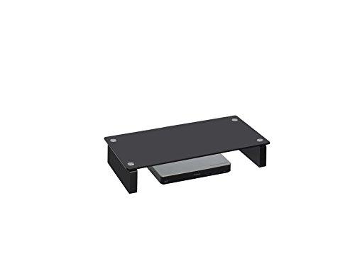 MAJA Meubel TV-meubel televisiestandaard in zwart glas 60x12,2x27,6cm Lowboard
