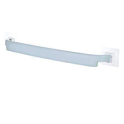 Blanco Útil plástico montado en la pared toalla de toalla barra estantería autoadhesivo rack porta rollo de inodoro papel colgando suspensión baño de baño (Color : Blue)