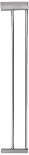 Hauck Extension de 14 cm, Compatible avec Barrière de Sécurité hauck Squeeze, Trigger Lock, Deluxe Wood and Metal, Fixation à Pression, Sans Perçage, Une Extension par Côté, Silver