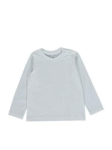 Camiseta básica para bebé Blanco 6-9 Meses