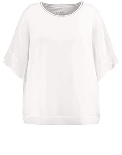 Samoon Damen 2-in-1 Bluse im legeren Style leger Offwhite 50