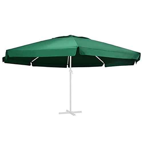 Tidyard Tela de Repuesto para Sombrilla Sombrilla de Repuesto para Patio Parasol de Jardín Toldo de Repuesto para Sombrilla Verde 600 cm