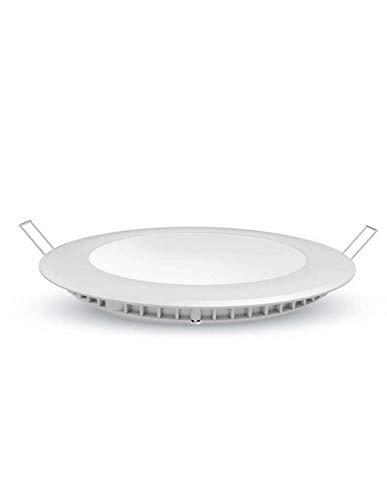 Europalamp DL2436 Spot LED Encastrable Plafonnier Plafond Ultra Slim Chaud, Aluminium, 6 W, Blanc, 12 x 2 cm