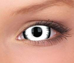 Farbige Mini Sclera Kontaktlinsen Lenses - 27 Modelle - 17mm, 1Paar (2 Stück), ohne Stärke, Gratis Behälter (Luna Eclipse Mini Sclera)