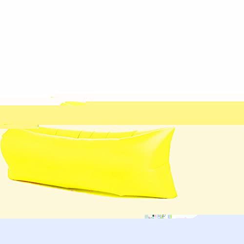 LAMCE Sofá Inflable Perezoso portátil al Aire Libre Agua Playa césped Parque Cama de Aire sofá Juguete Yellow