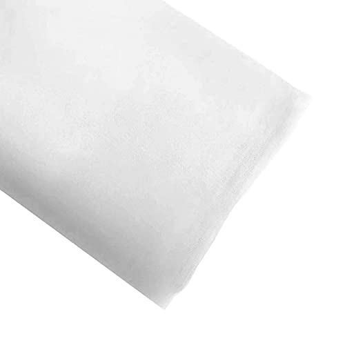Craft And Party, 54' by 40 Yards (120 ft) Fabric Tulle Bolt for Wedding and Decoration (White)