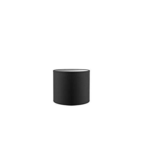 Lampenschirm rund | Bling | Geeignet Für Pendellampe Stehlampe Tischlampe Wandlampe Deckenlampen besteht aus Baumwolle Für E27 Fassung Durchmesser 20cm Höhe 17cm Nacht Schwarz Für alle Innenraumen