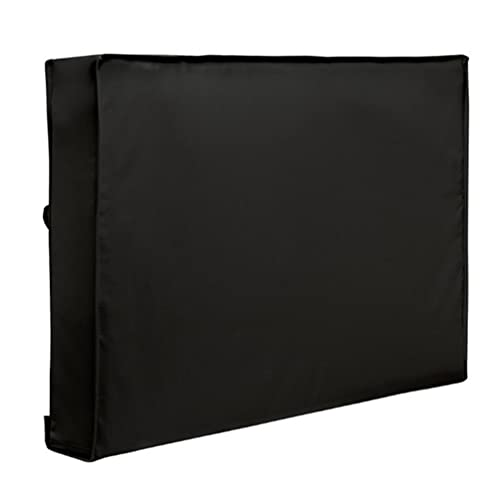 Cabilock Outdoor TV Cover 60 to 65 inches with Front Flap Oxford Weatherproof and Outdoor TV Enclosure for Outside LED LCD TV (Black)